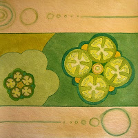 food painting for the vegetarian cookbook by Fiona Morgan