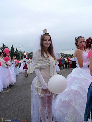 The parade of brides in kursk