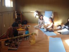 la sala de yoga del gimvital, los flamencos