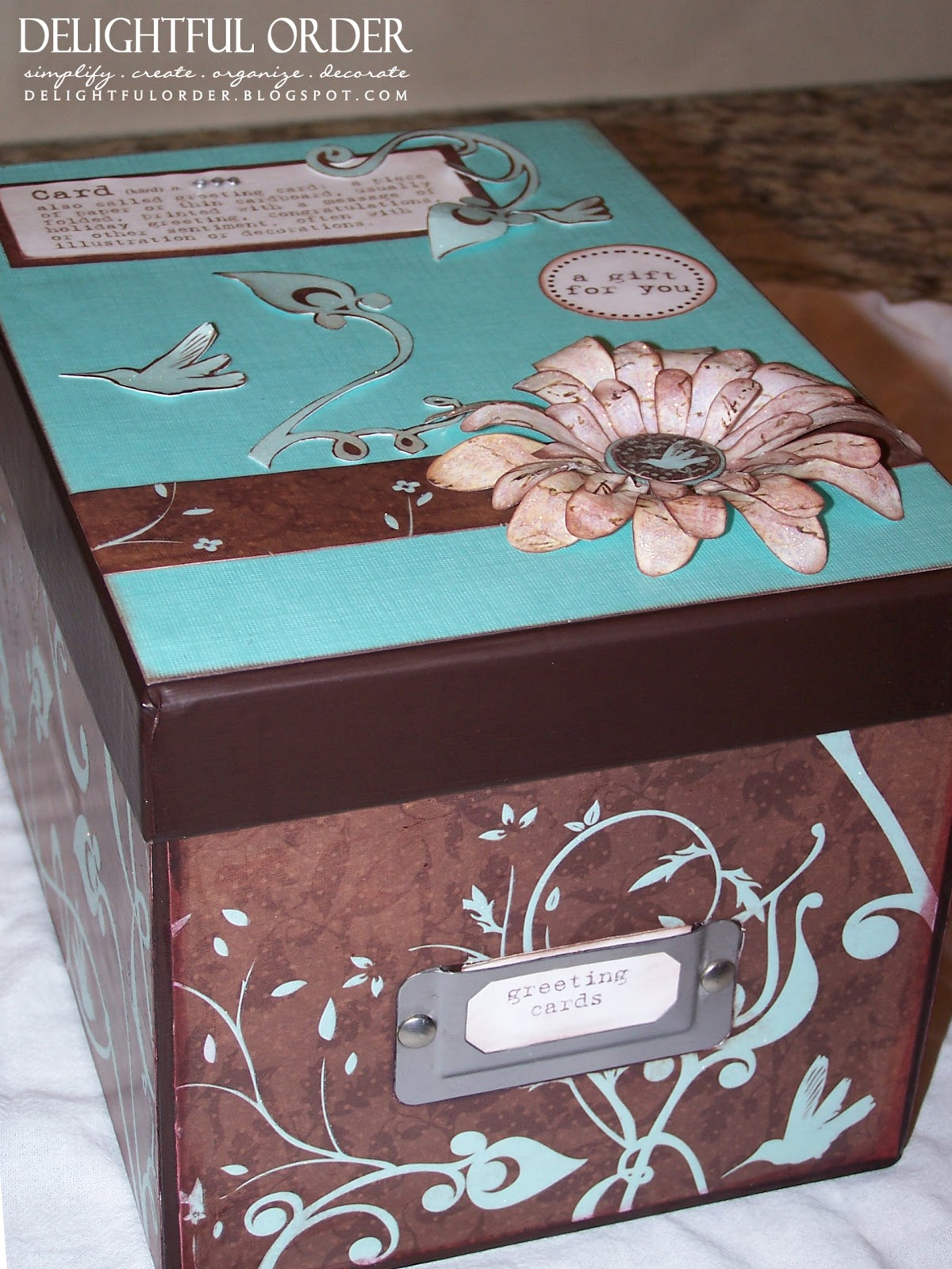 Delightful Order Greeting Card Box Gift Idea