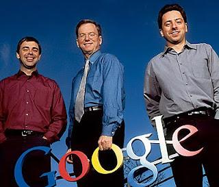 Larry Page, Eric Schmidt y Sergey Brin