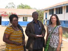 Me with Leonard (Headmaster) and Mwalimu Hellena