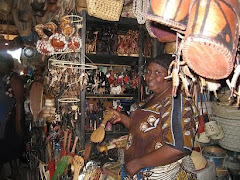 Lady Selling Handicrafts at the Sokoni