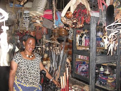 Another Lady Selling Handicrafts at the Sokoni