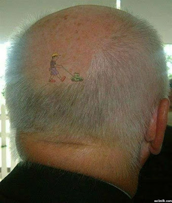 An old man's tattoo. I like this. I think it's the best tattoo I've ever