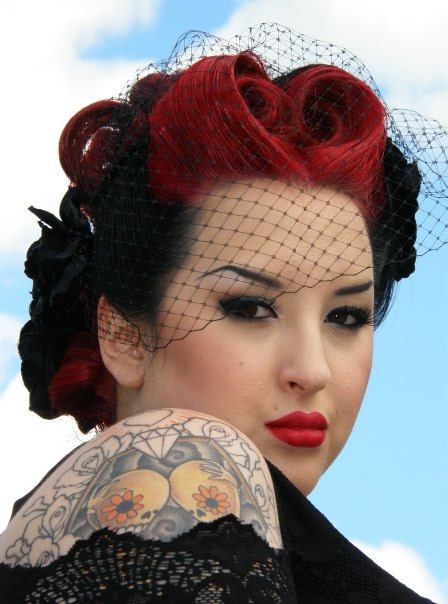 pin up style wedding hair