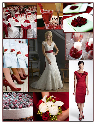 Welcome to a Holiday Wedding in Craberry Red White