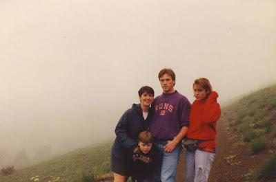 MT Rainier foggy hill