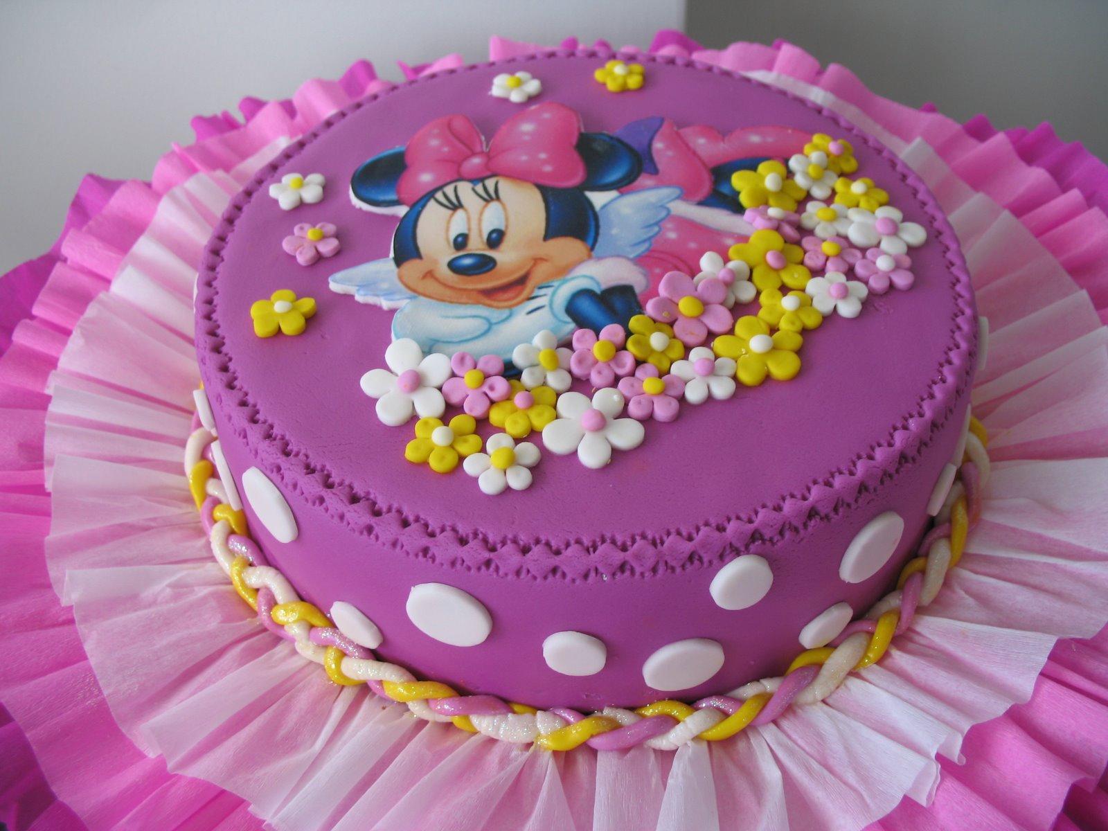 Delicias Caseras: Torta marmoleada de Minnie Mouse