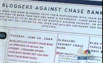 BLOGGERS AGAINST CHASE BANK PICTURED ON NATIONAL TELEVISION.