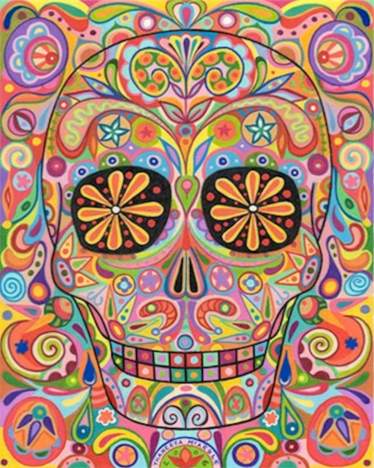 calaveras coloridas latino photo calaveras coloridas latino photo ...