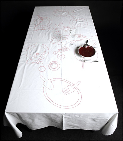 {Design} Messy Tablecloth by AZE