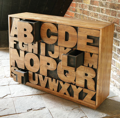 {Design} Alphabet chest by Kent & London