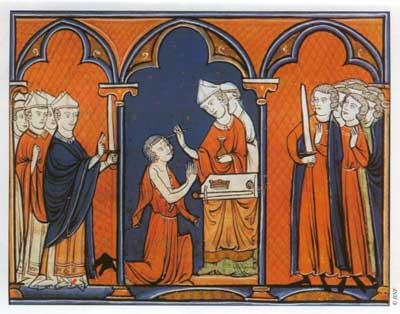Sagração de S. Luís IX, na Catedral de Reims.