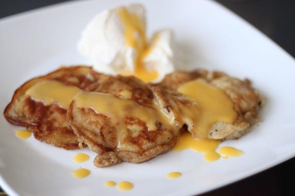 Malaysian Banana Pancakes with Lemon Coconut Curd: SOO yummy! Loved it ...