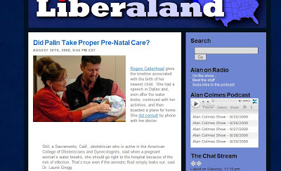 Nutty Far Left Pro-Choice TV Host Attacks Palin On Prenatal Care