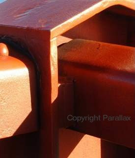 orange macro photograph close up of Golden Gate Bridge, San Francisco, California