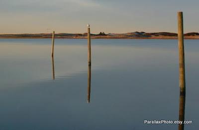photograph off season cape cod beach reflection