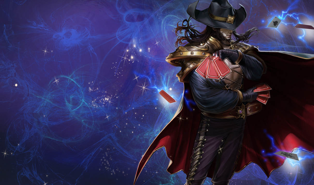 league of legends wallpaper twisted fate the card master