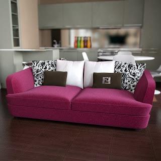 Free 3D model - Vikaga Velvet Sofa