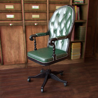 Free 3D model - Classic Boss armchair