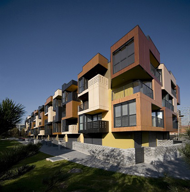 TETRIS APARTMENTS ARCHITECTURE CONTEMPORARY BALCONIES DESIGN