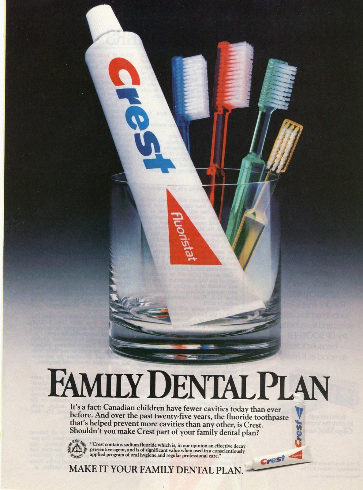 1986 Crest Toothpaste Magazine Ad Print Photo | Old