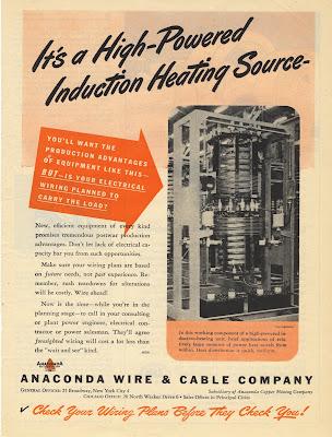 1945 Anaconda Wire Cable Co. Magazine Ad print | Old Magazine Ads