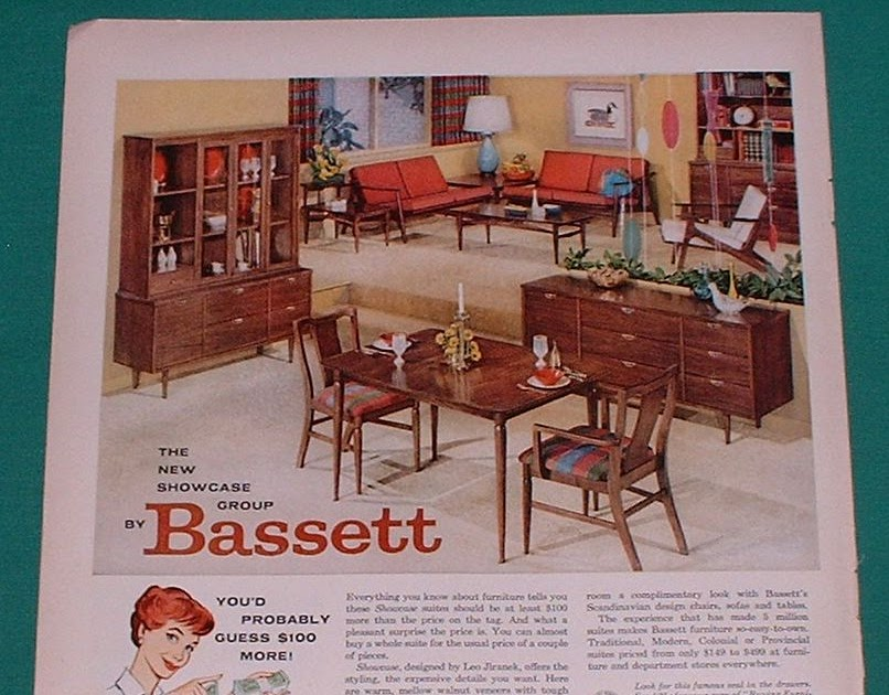 1960 bassett furniture magazine ad old magazine ads for P s furniture flyer