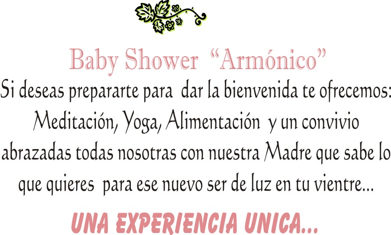 Sabiduria Femenina: BABY SHOWER ""