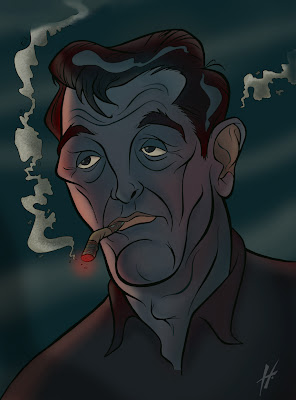 Robert Mitchum caricature