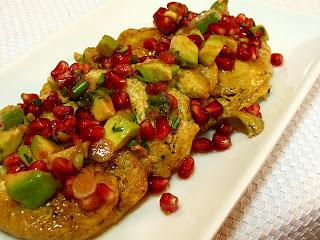 All That Splatters: Chicken Paillards with Avocado-Pomegranate Salsa