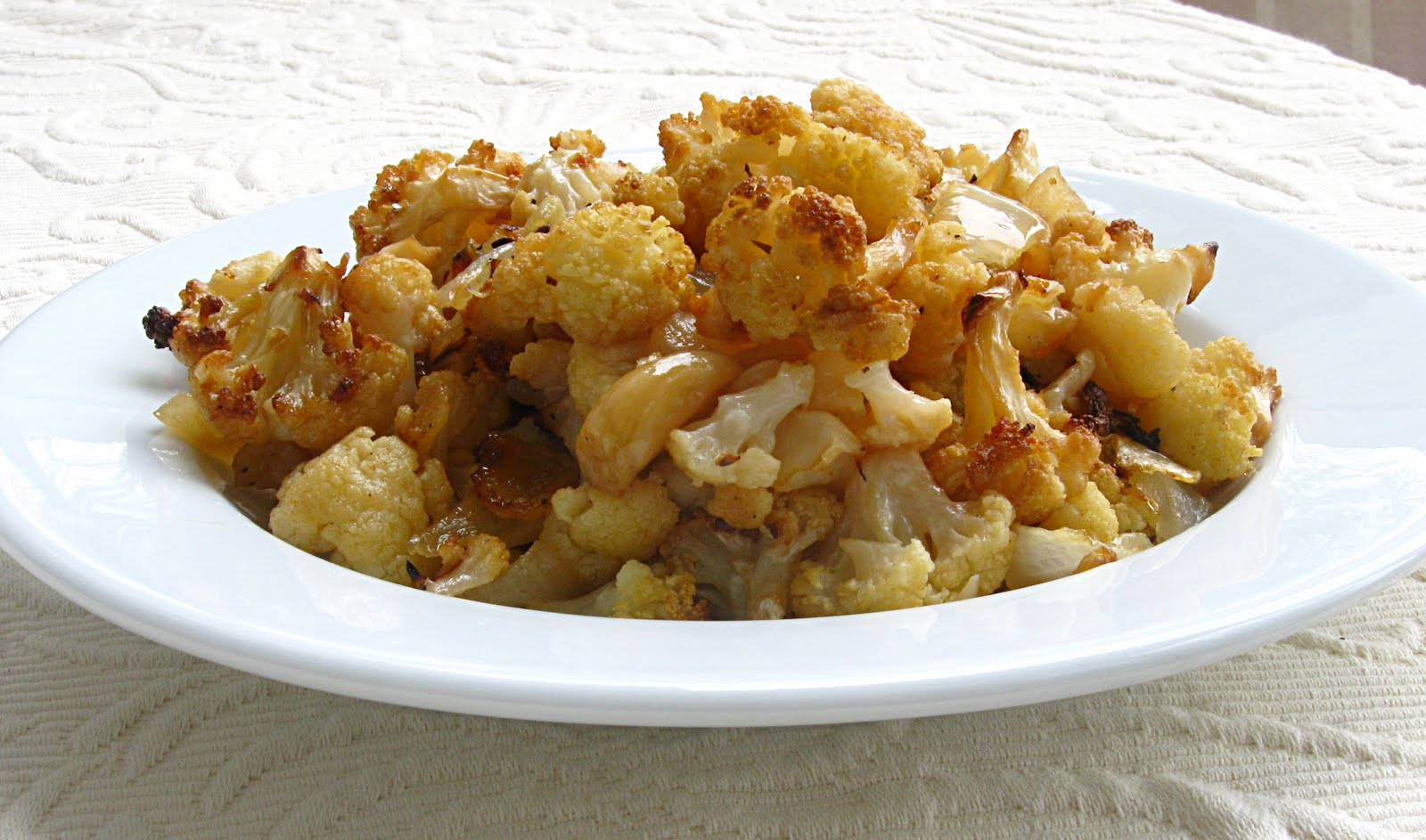 oven roasted cauliflower onions and garlic 1 head cauliflower cut