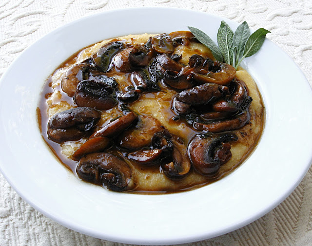 All That Splatters: Creamy Polenta and Mushrooms