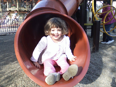 Salma on the slide