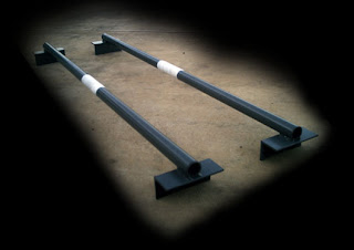 Beautifully simple homemade squat rack dip bars for Homemade safety squat bar