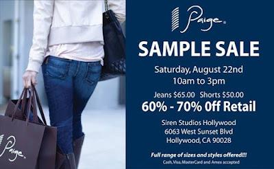 Sample Sale: Paige Premium Denim in Los Angeles