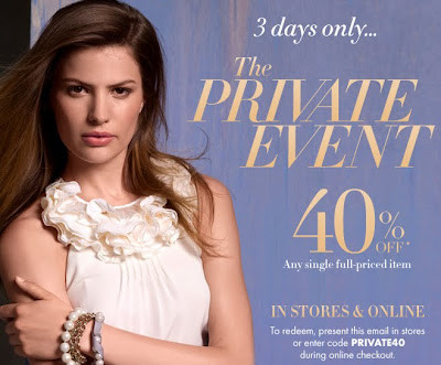 Ann Taylor Private Event: 40% Off Any Full-Priced Item