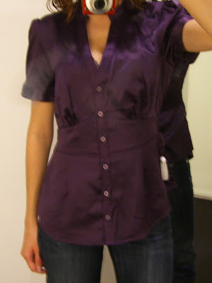 Petite Fit Guide: Improper Fit of a Regular Size Blouse on a Petite Woman