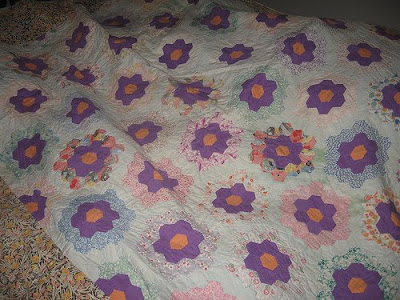 Grandmas Flower Garden Embroidery Quilt Designs