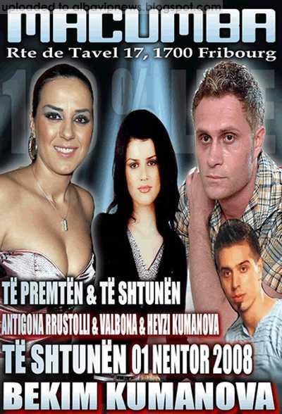 Macumba Club Antigona Rustolli Valbona Spahiu etj