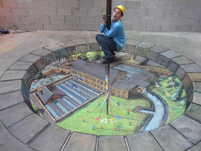 julian beever Julian beever julian beever is a pop artist that specializes in street art i chose to do my project about him because i think street art is fascinating and his art is interesting.