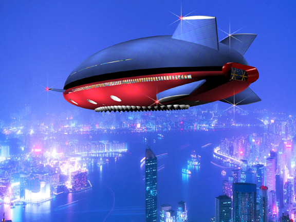 All Graphical The Flying Cruise Ship Aeroscraft ML - Flying cruise ship