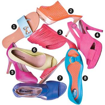 Sapatos lindos para curtir o verão