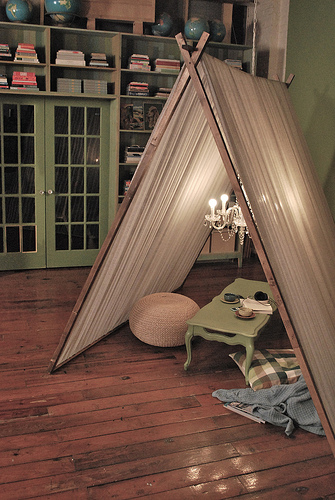 So since my cats are my fur-babies it makes perfect sense that I would make them a tent right? RIGHT? & luckybydesign: Indoor Tents... for CATS!