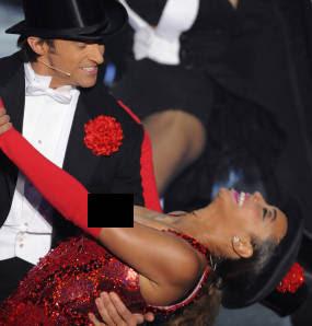 Foto: Dada Beyonce Ngintip di Oscar 2009