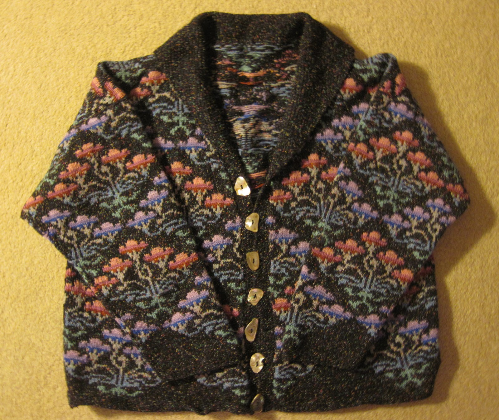 Kaffe Fassett Knitting Kits : Spinsjal chinese rose jacket redux