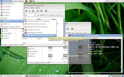Sombras e transparência no GNOME sem aceleração 3D