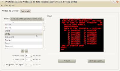 XScreensaver - Configurações