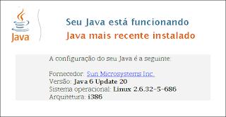 Teste do Java Virtual Machine (JVM): SUCESSO!